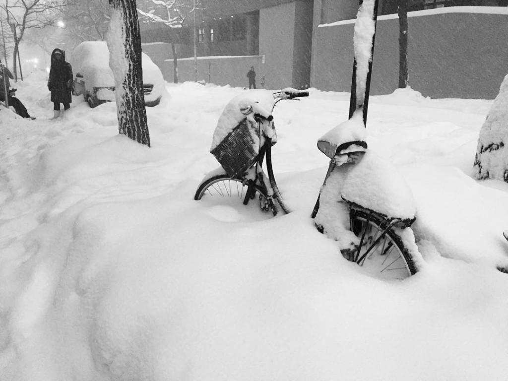 I guess bike riding is out. #snowstormjonas #NYC #manhattan #blizzard #hellskitchen #justalittlesnow #winterinnyc #cold #bike #newyork